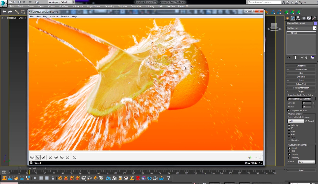 Create a Water Splash in Phoenix FD