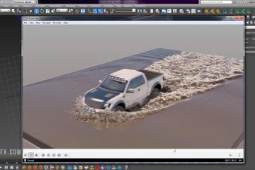 Truck vs. Muddy Water VFX Tutorial Phoenix FD