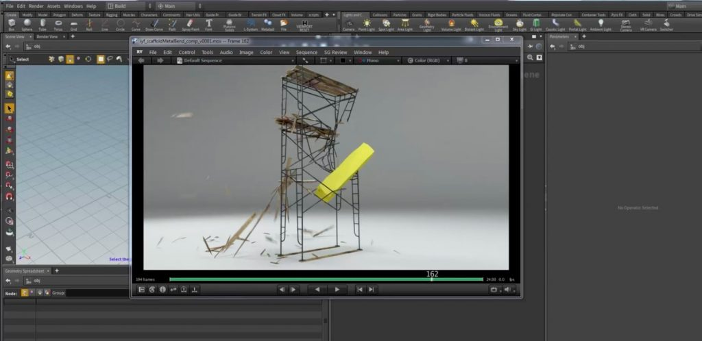 Dynamic Metal Bending Constraints in HOUDINI
