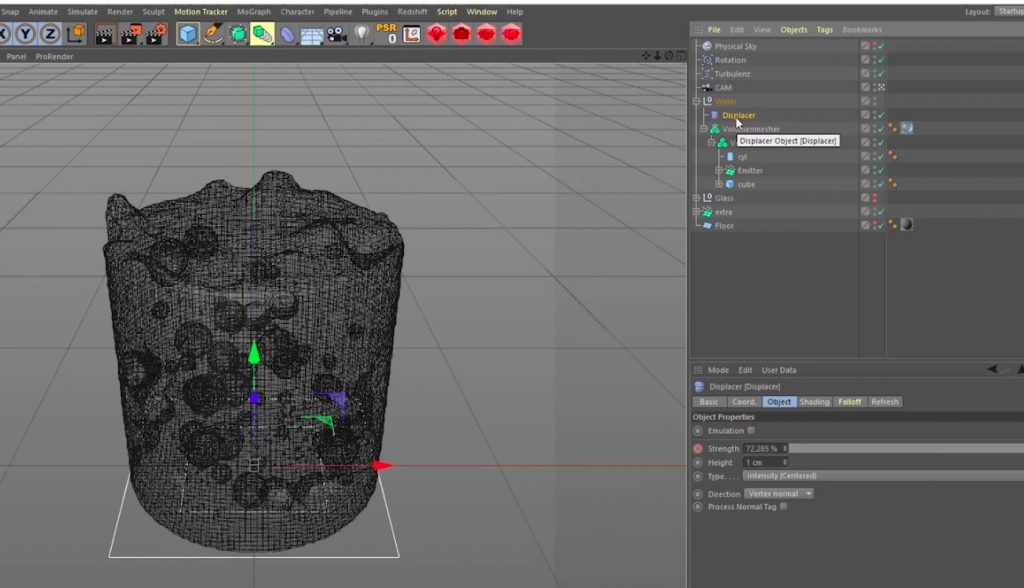 Making of Boiling Water in Cinema 4D
