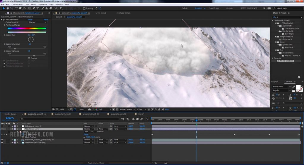 Create an Avalanche with 3ds Max and Phoenix FD