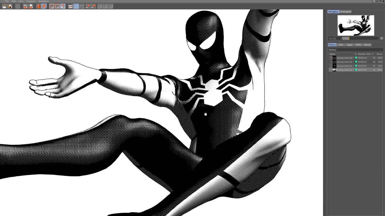 Spider-Man Texture in C4D Standard Render