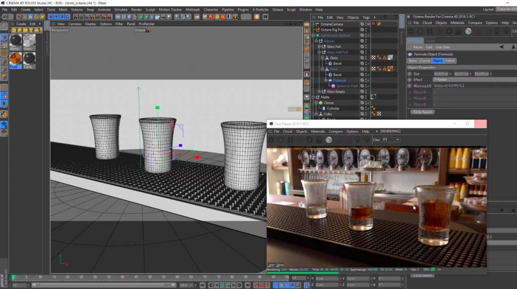 Shots in cinema 4D