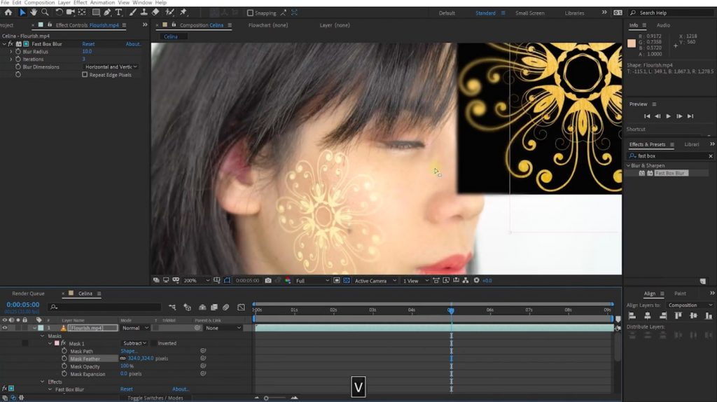 Tracking Scars & Digital Makeup with Mocha Pro and After Effects
