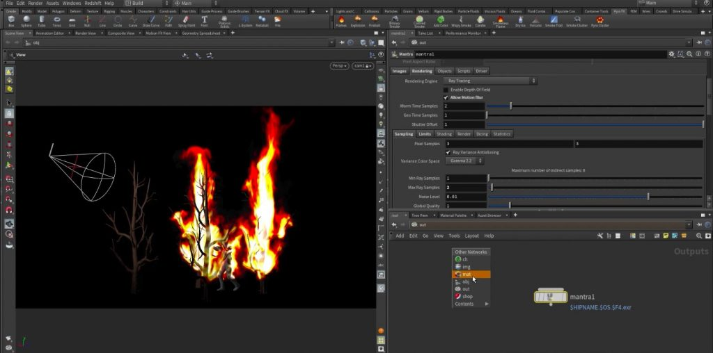 Create Fire and Flames with Houdini Pyro FX