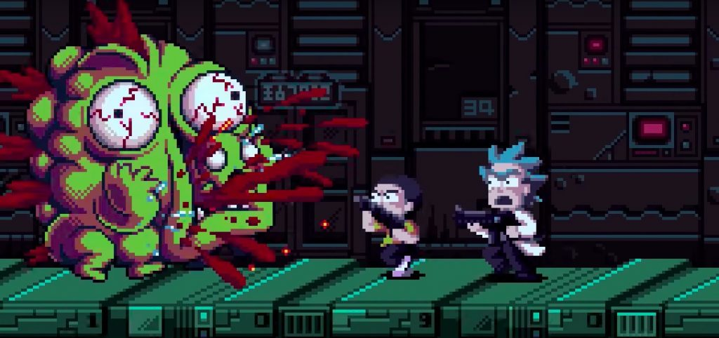 Rick and Morty Pixelated