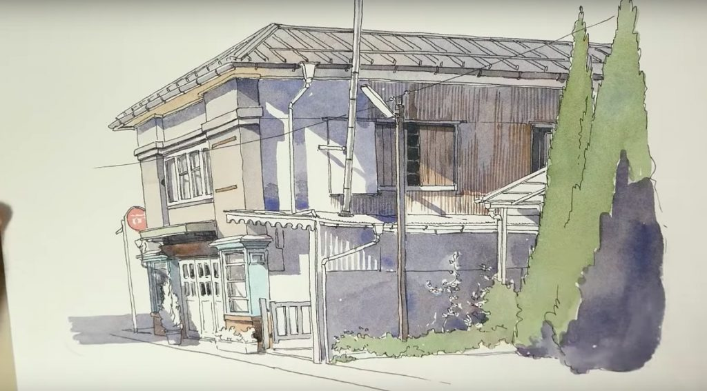 Sketching Buildings with Watercolors with Mateusz Urbanowicz