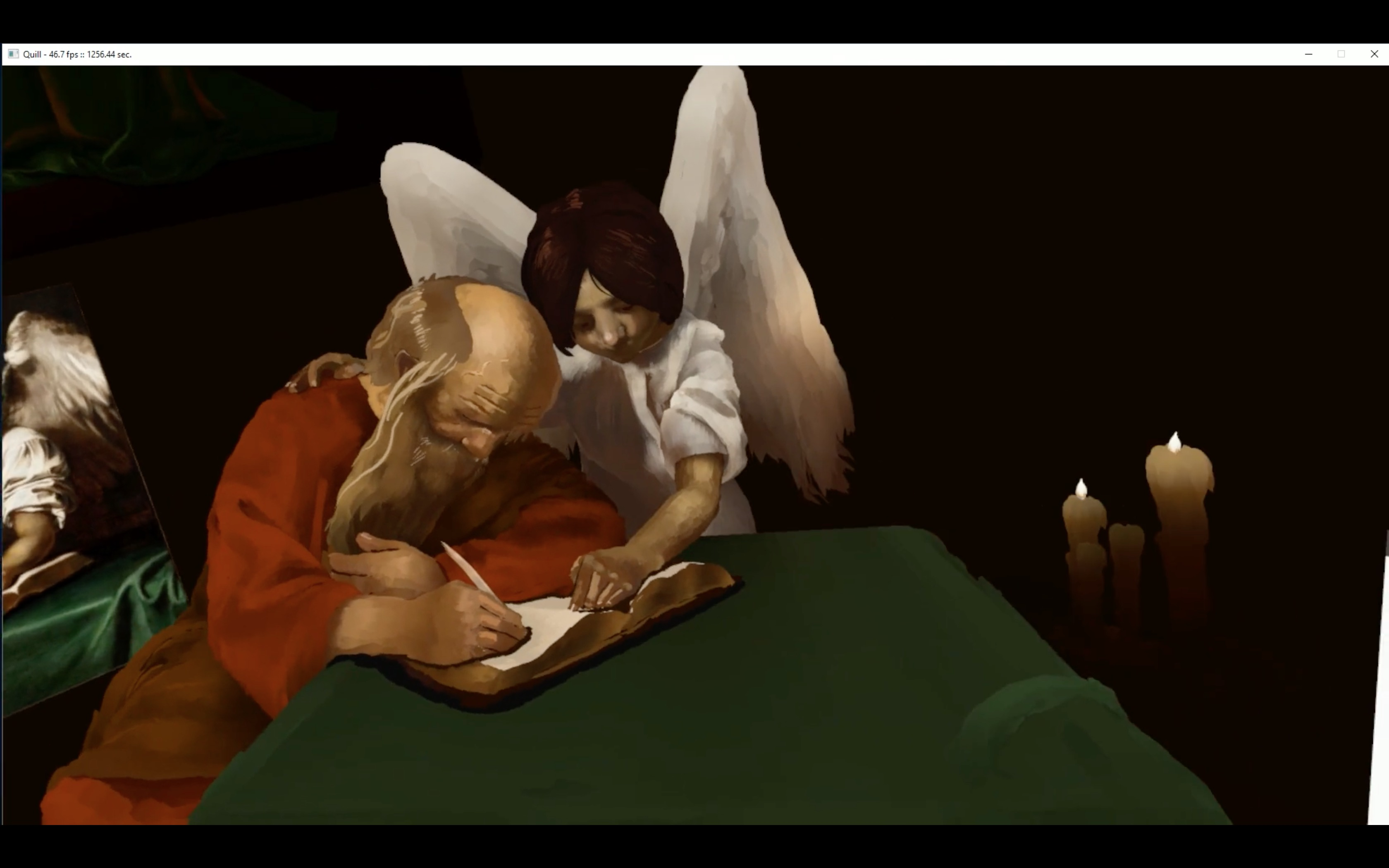 Making Of Saint Mathew And The Angel