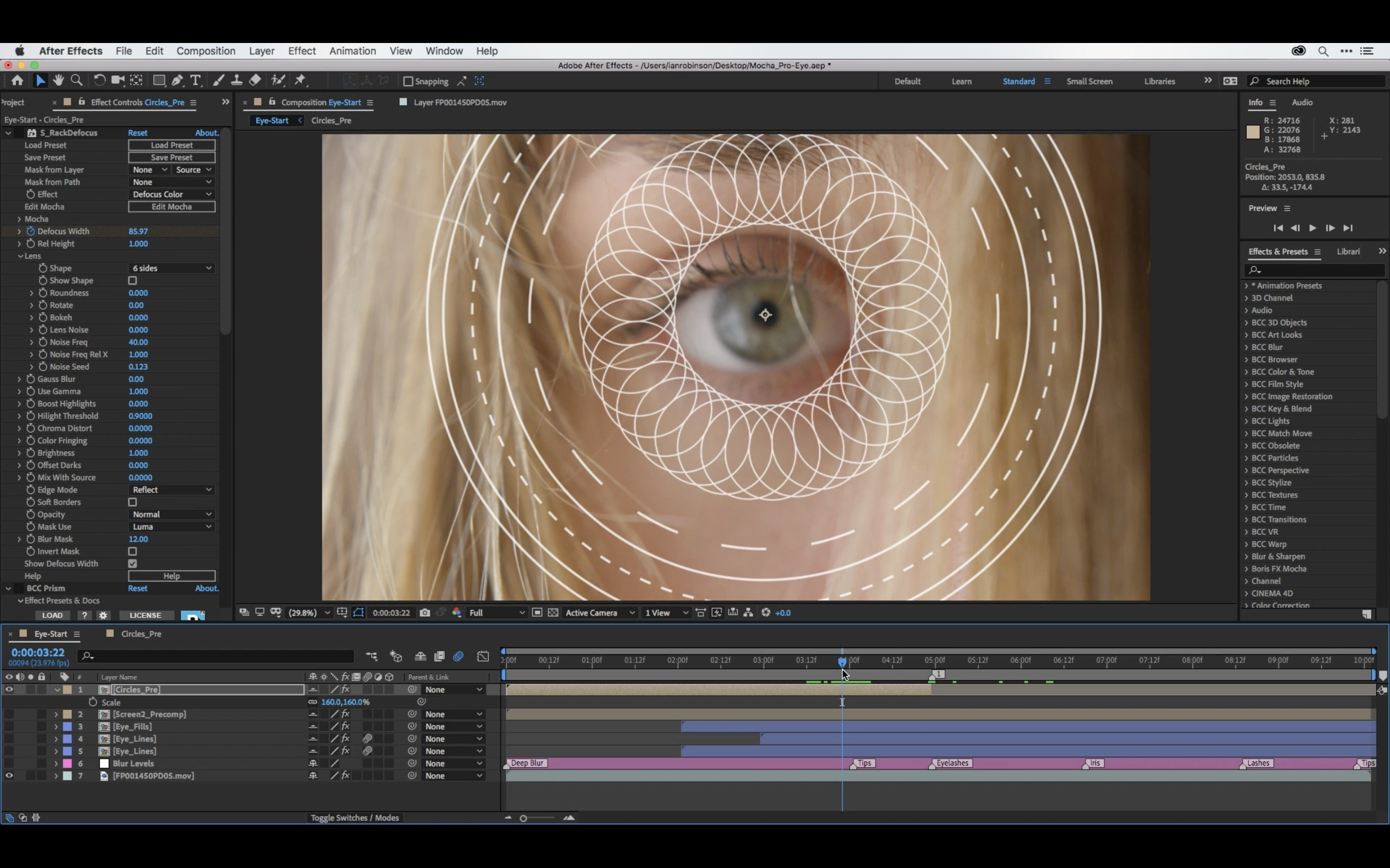 Eye Tracking & Masking with Mocha and After Effects