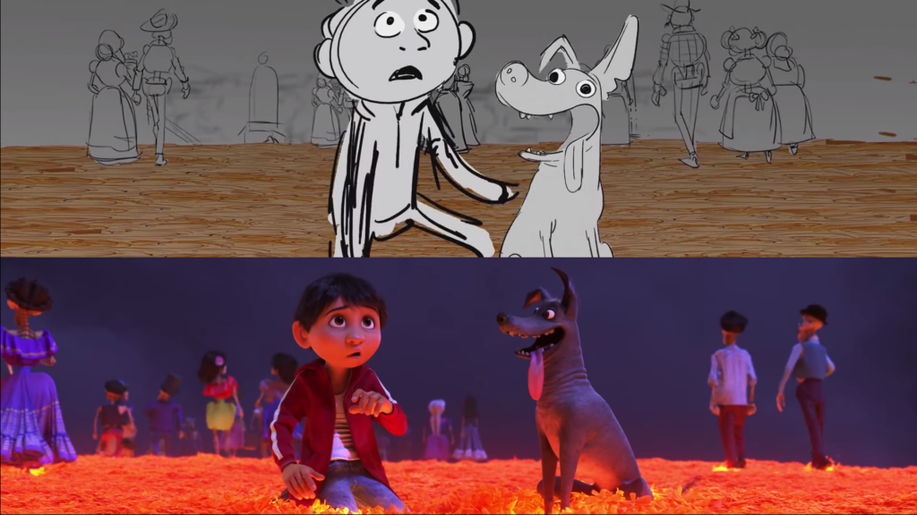 Coco From Storyboard to Final Frame