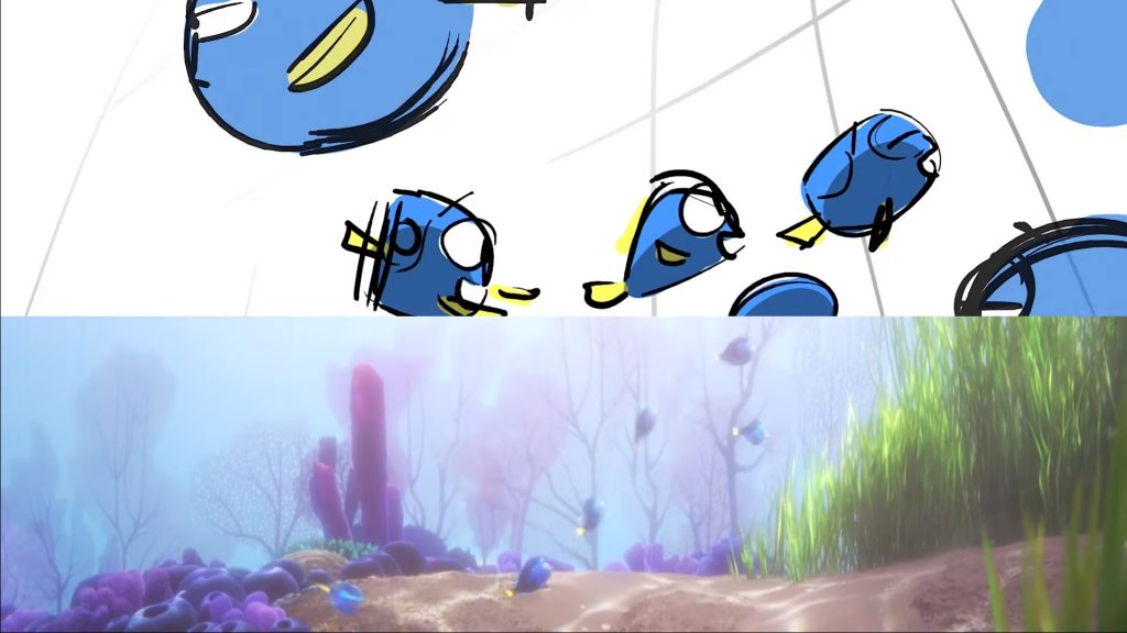 Finding Dory From Storyboard to Final Frame