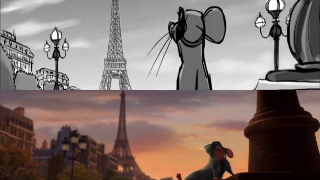 Ratatouille: From Storyboard to final frame