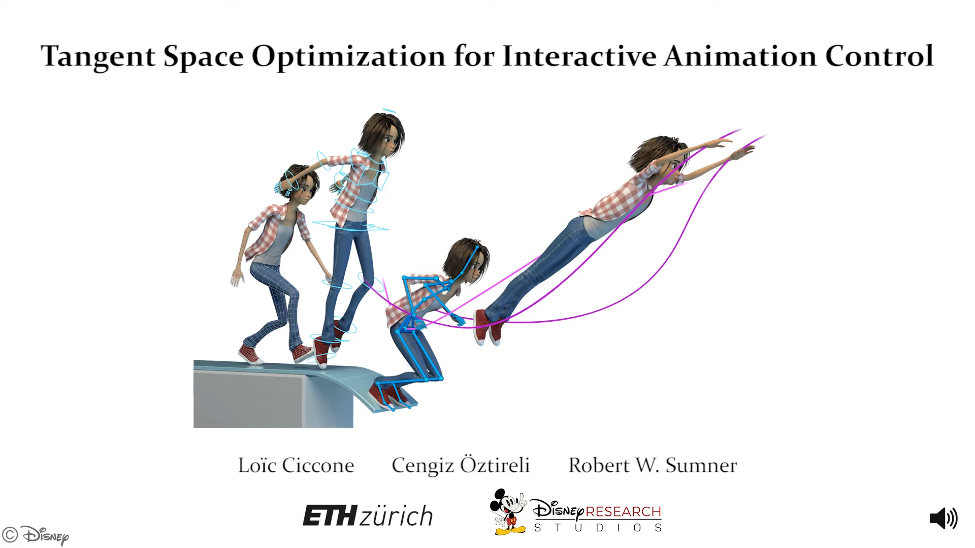 Disney Space Optimization of Controls for Character Animation