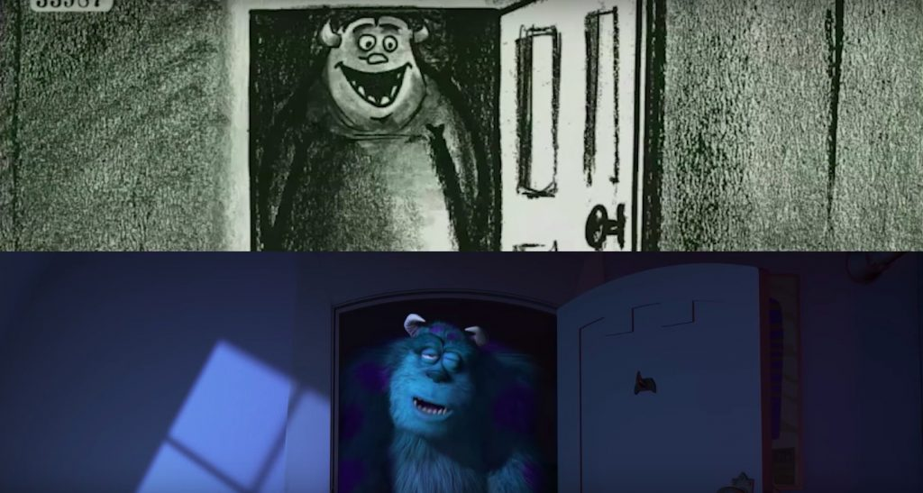 Sulley Tucks Boo into Bed- Monsters Inc.