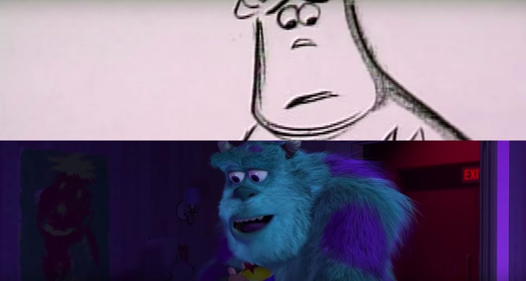 Sulley and Boo's Goodbye From Monsters, Inc. - Side By Side