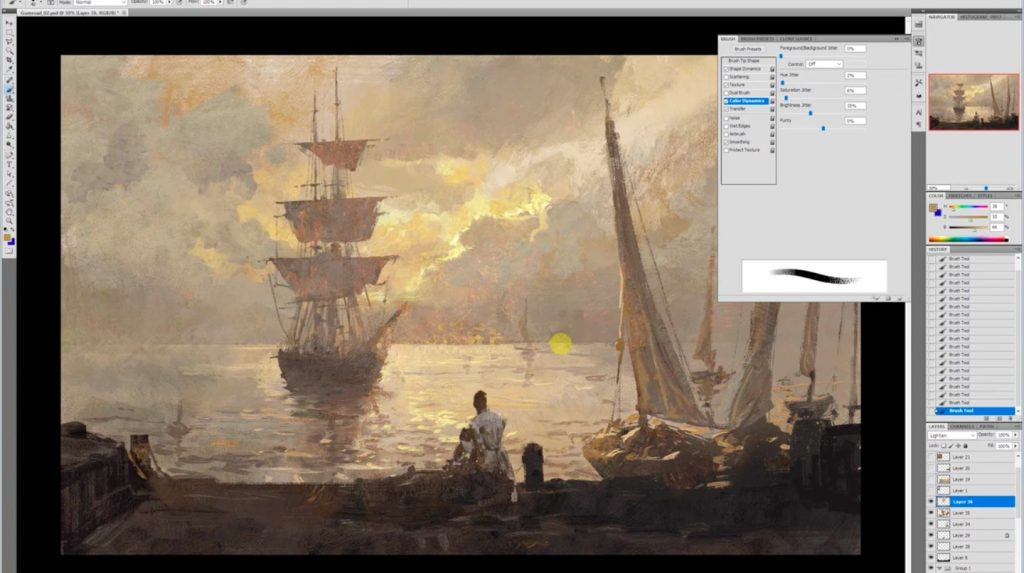 Creating A Traditional Look In Photoshop by Greg Rutkowski