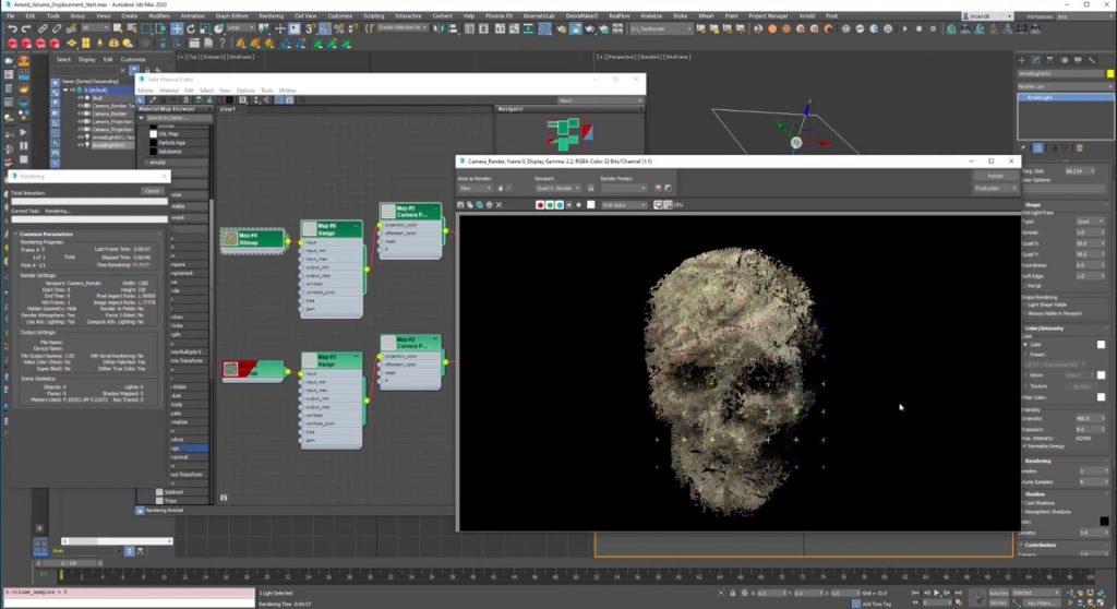 Arnold Volume Displacement in 3ds Max