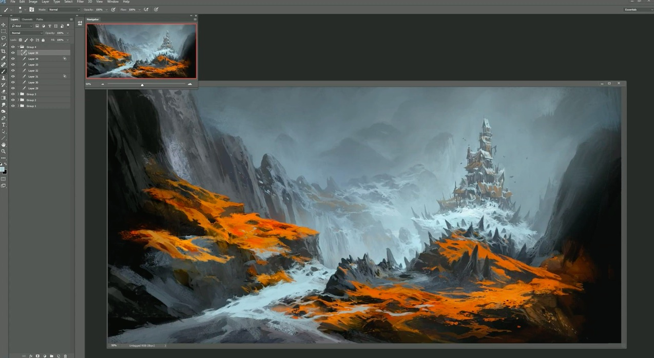 Making Of Fiery Path by Andreas Rocha