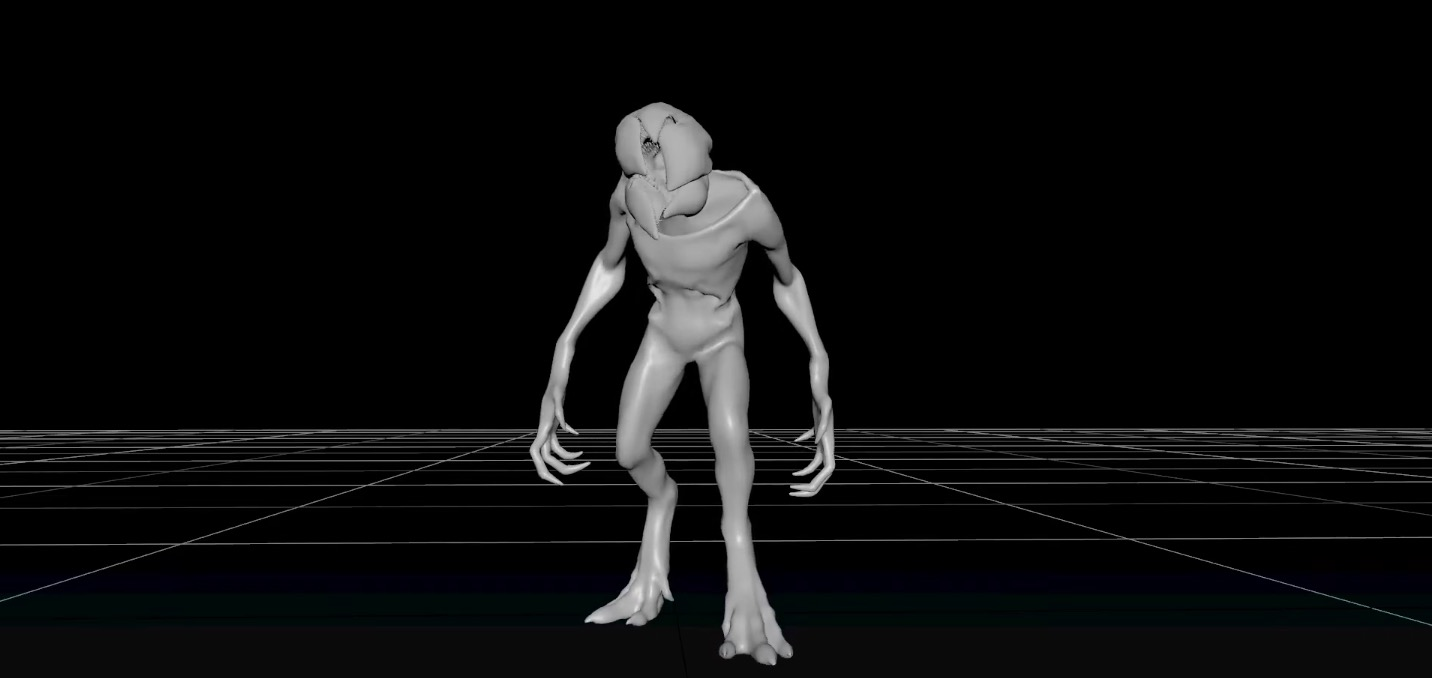 Making Of Stranger Things Demogorgon by Aaron Sims Creative