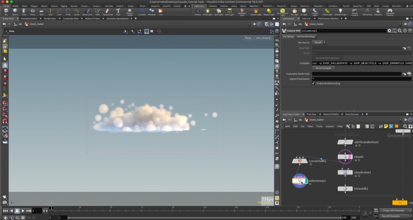 Cloud Generation in Houdini
