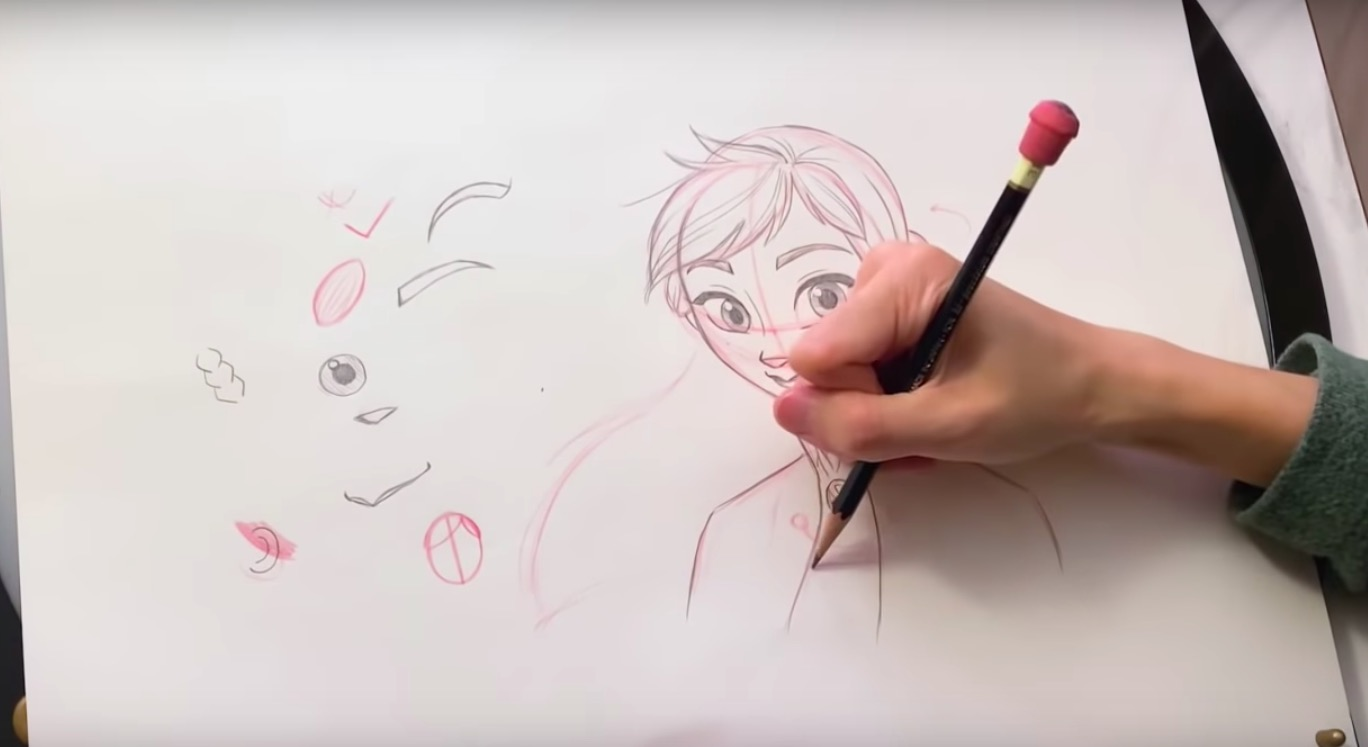 Drawing Anna - Frozen 2