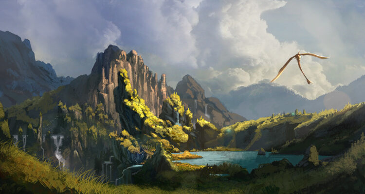 How to train your dragon Concept Art by Nicolas Weis