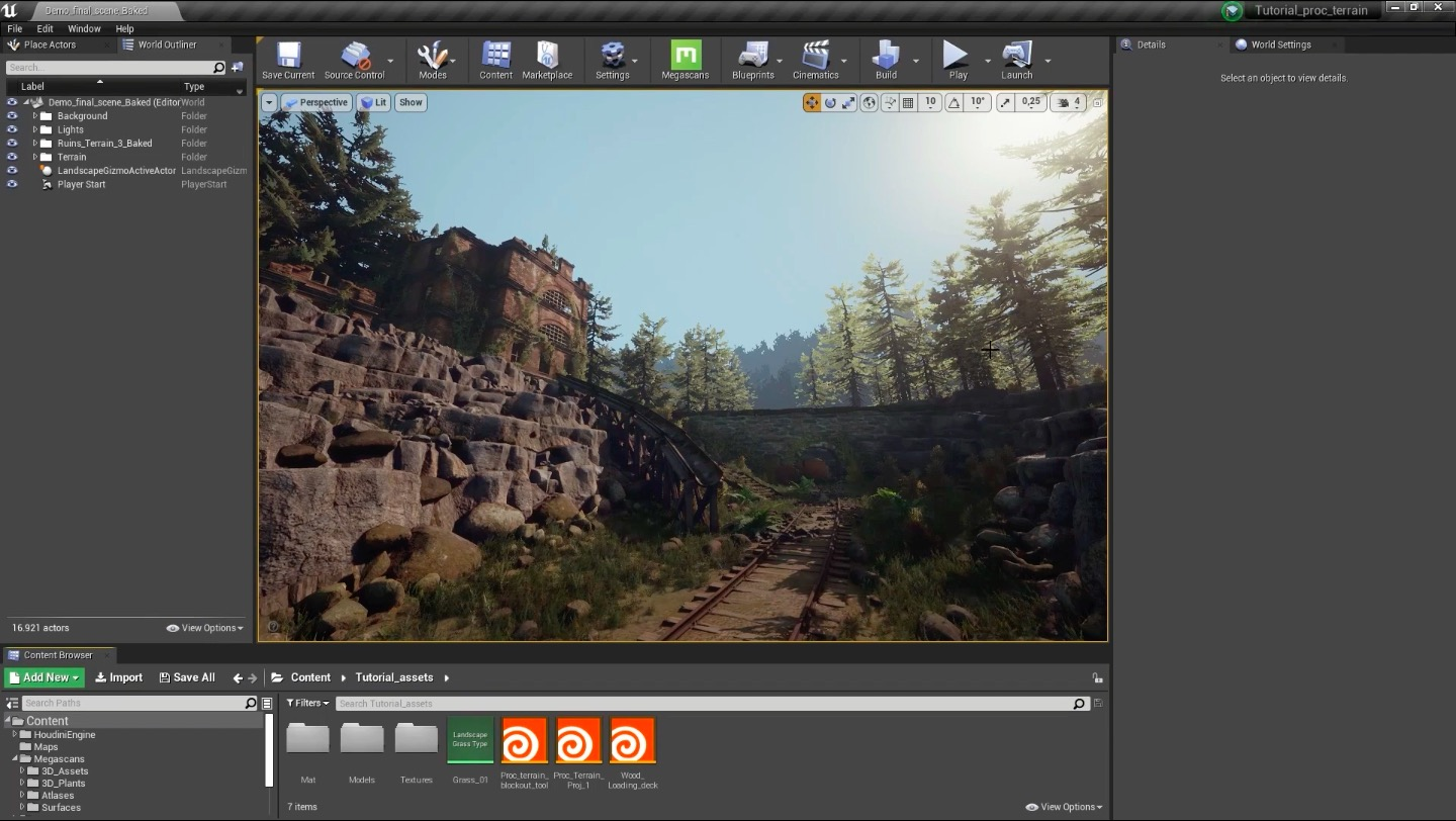 Free Tutorial : Create POST APOCALYPTIC RUINS FOR UE4 in Houdini